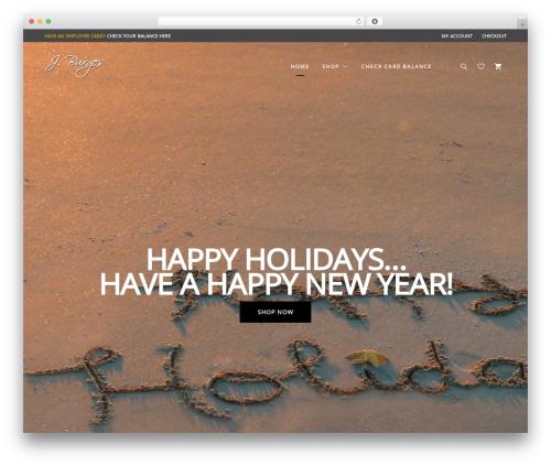 UX Shop WordPress store theme - jburges.com