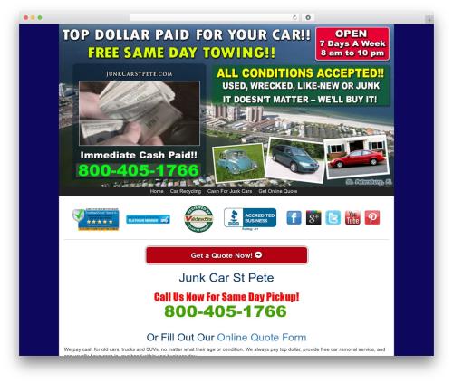WordPress theme Kelly Car Buyer 1.0 - junkcarstpete.com