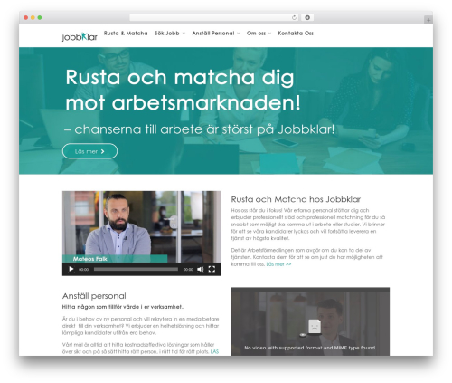 WorkScout best WordPress template - jobbklar.se