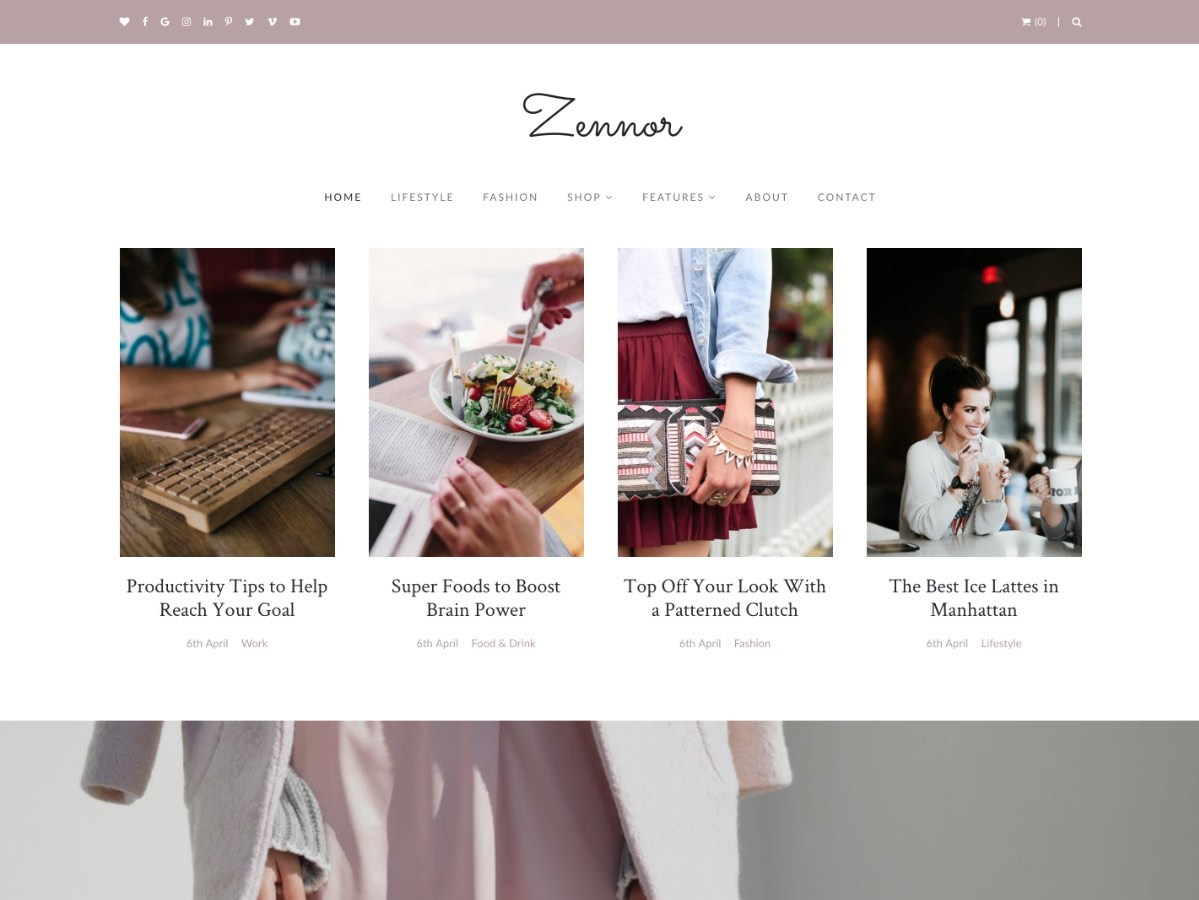 Zennor WordPress blog theme