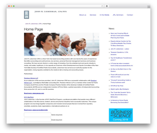 Best WordPress template smoothbiz - jrliebermancpa.com
