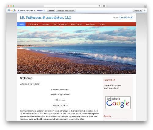Customized top WordPress theme - jrpatterson.com