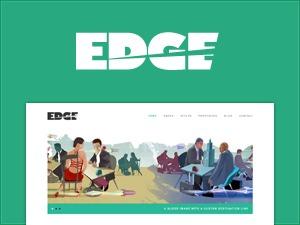 Edge theme WordPress portfolio
