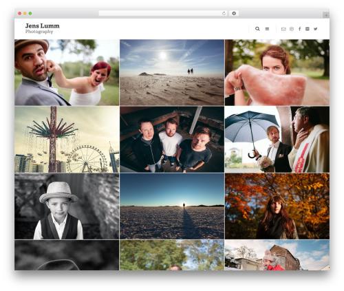 FatMoon WordPress template for photographers - jenslumm.com