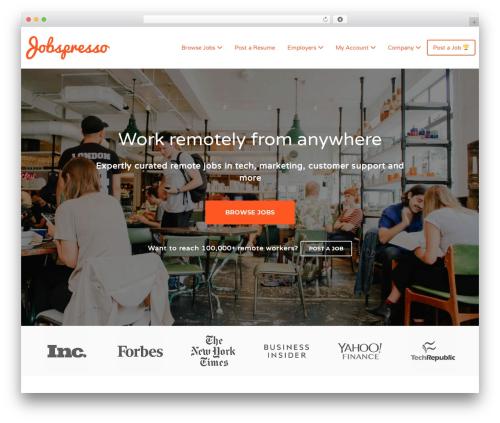 Jobify WordPress template for business - jobspresso.co