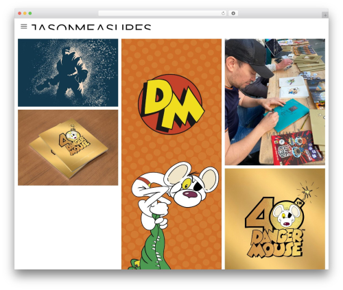 Lookbook WordPress theme - jasonmeasures.com