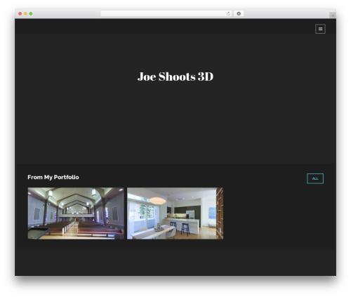 Lumos template WordPress - joeshoots3d.com