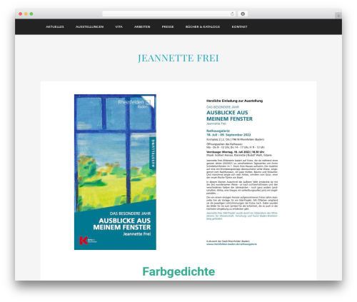 Museum top WordPress theme - jeannettefrei.de