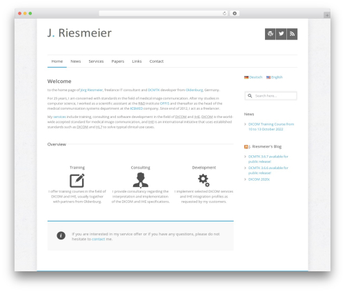 Quare WordPress theme - jriesmeier.com