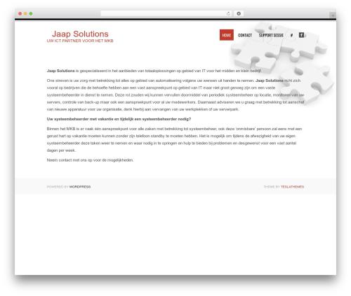 Tesla WordPress website template - jaapsolutions.nl