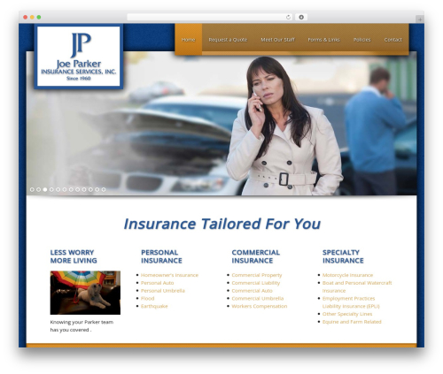 WordPress theme Executive Child Theme - joeparkerinsurance.com