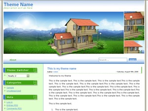 3D-Realty WordPress template for business