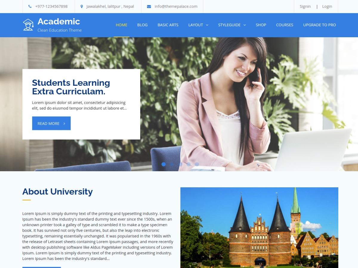 Academic WordPress theme download