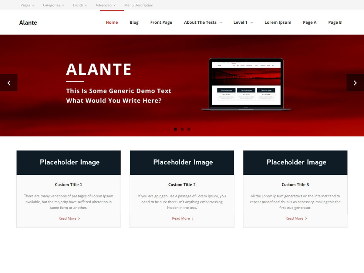 Alante business WordPress theme