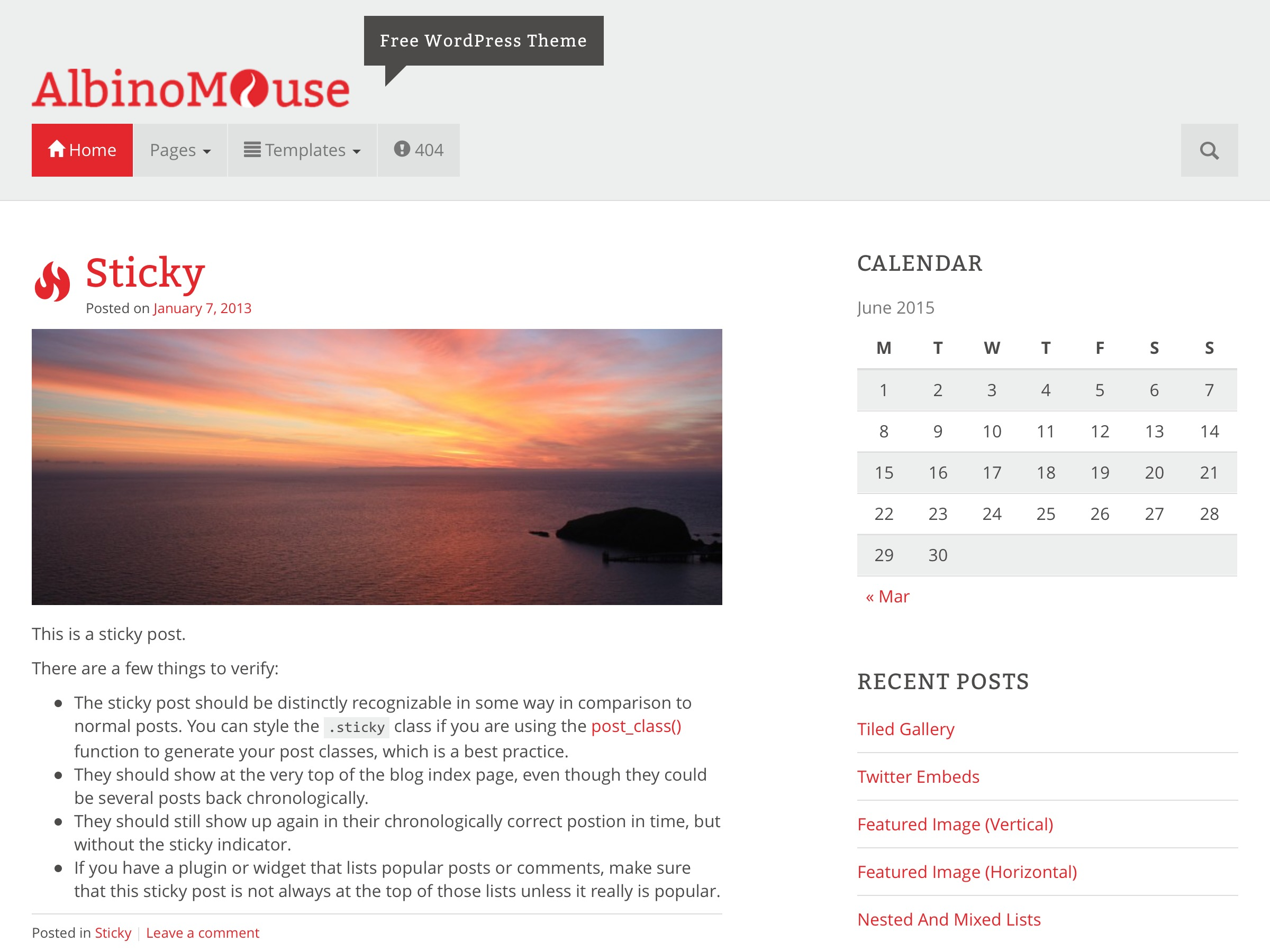 AlbinoMouse WordPress theme download
