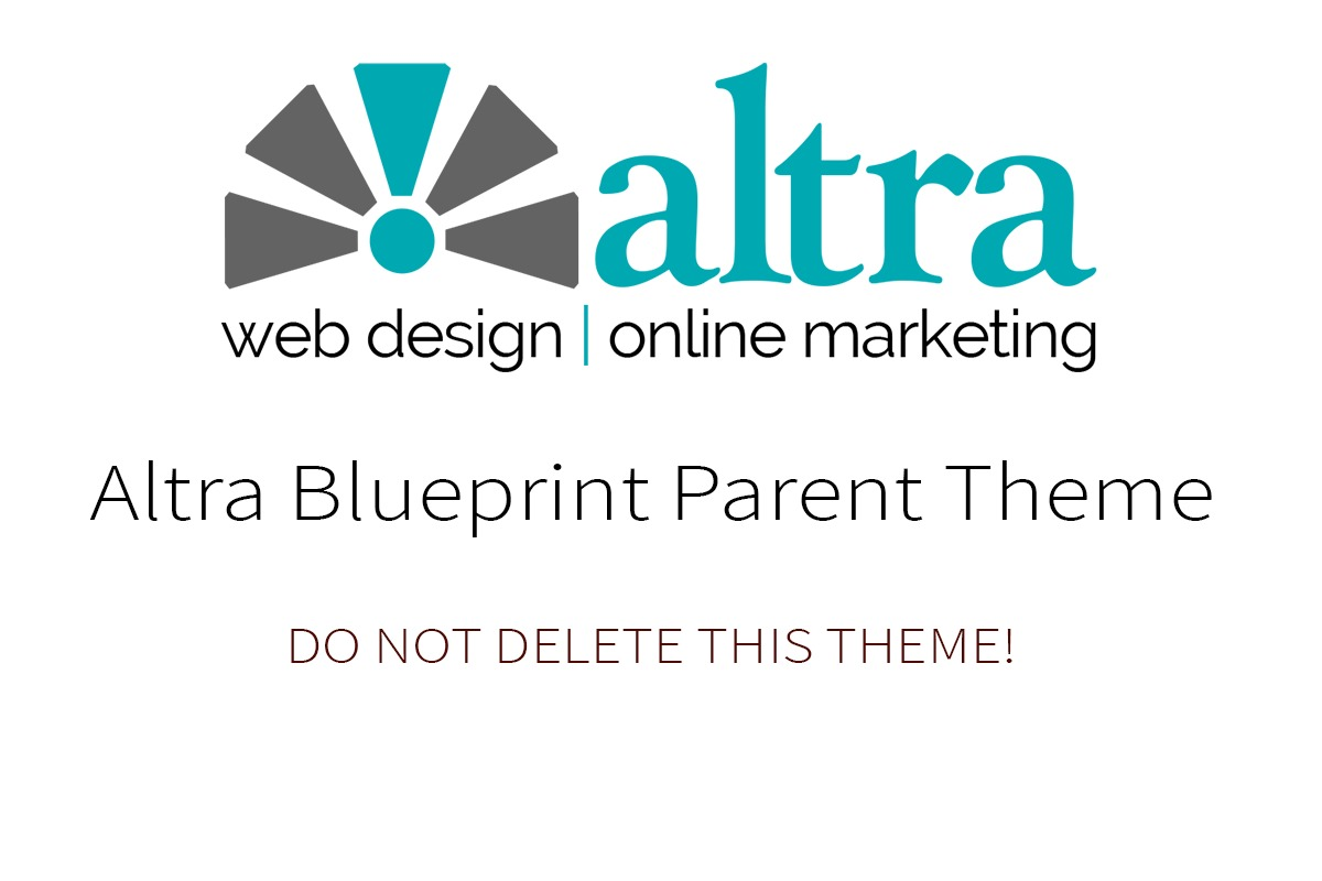 Altra Blueprint WordPress template