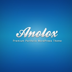 Anolox WordPress page template