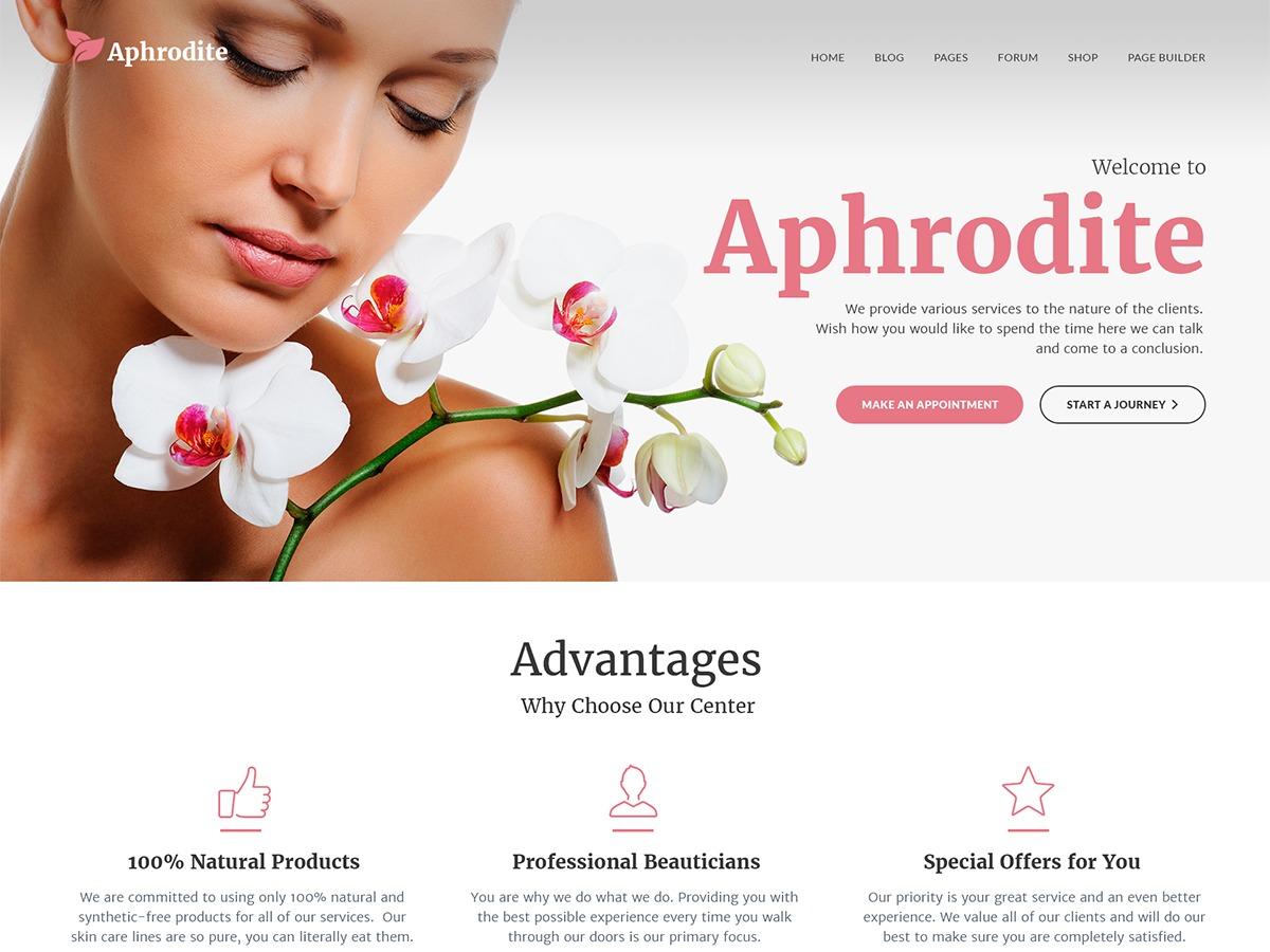Aphrodite WordPress template for business