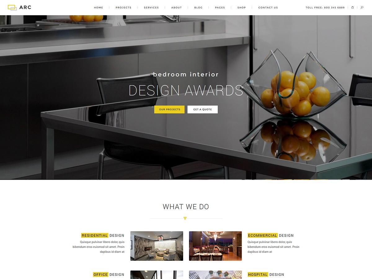 Architect theme WordPress