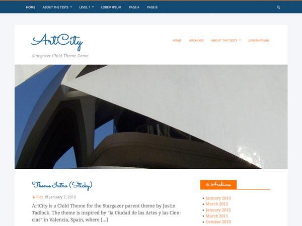 ArtCity best WordPress theme