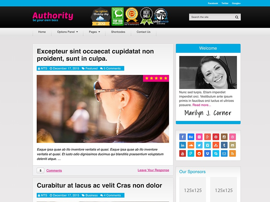 Authority by MyThemeShop WordPress shop theme