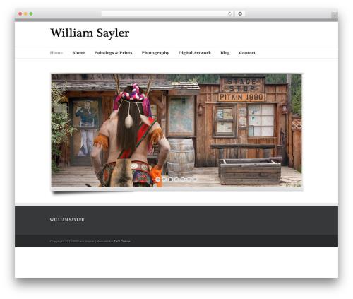 Avada WordPress template - williamsayler.com