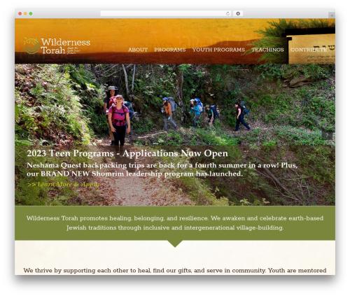 Avada WordPress theme - wildernesstorah.org