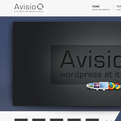 Avisio WordPress template for business