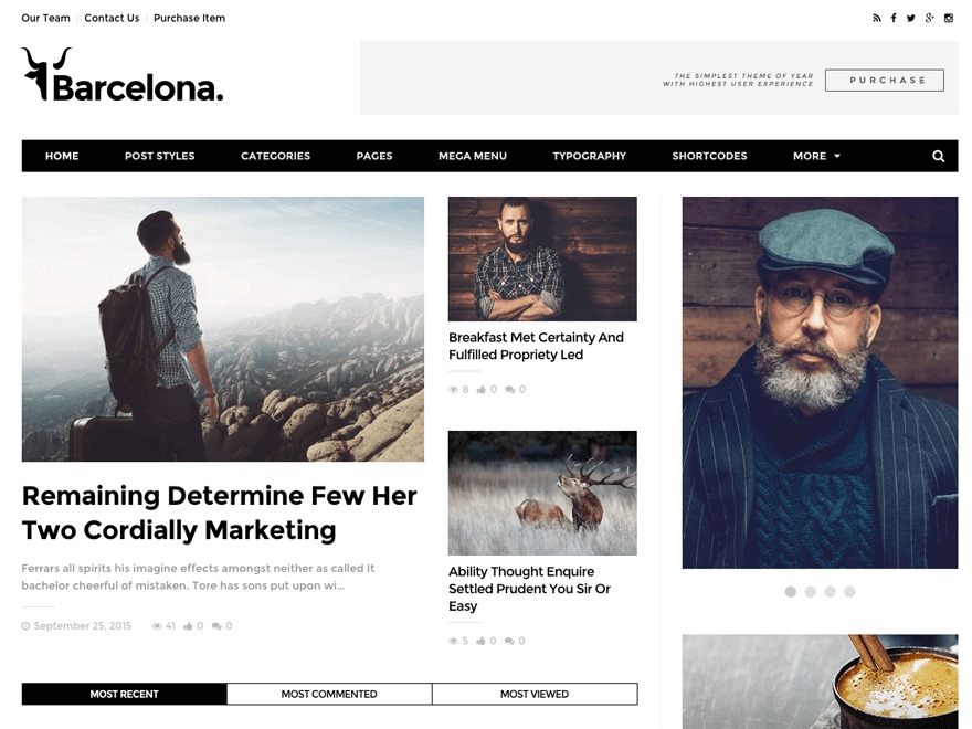 Barcelona WordPress template