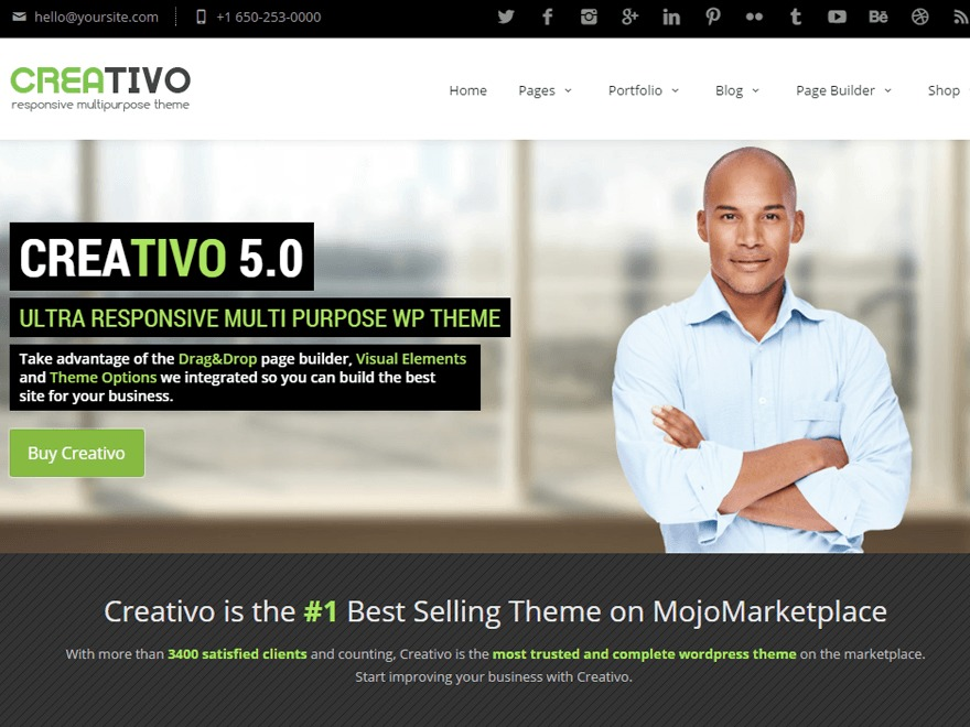 Best WordPress template Creativo 5.0