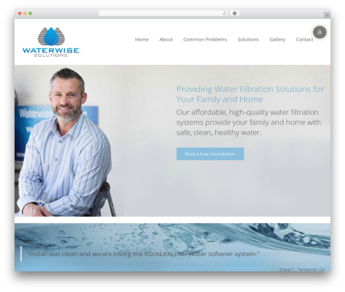Best WordPress template Virtue - waterwiseoc.com