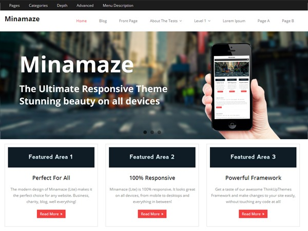 Best WordPress theme Minamaze-child