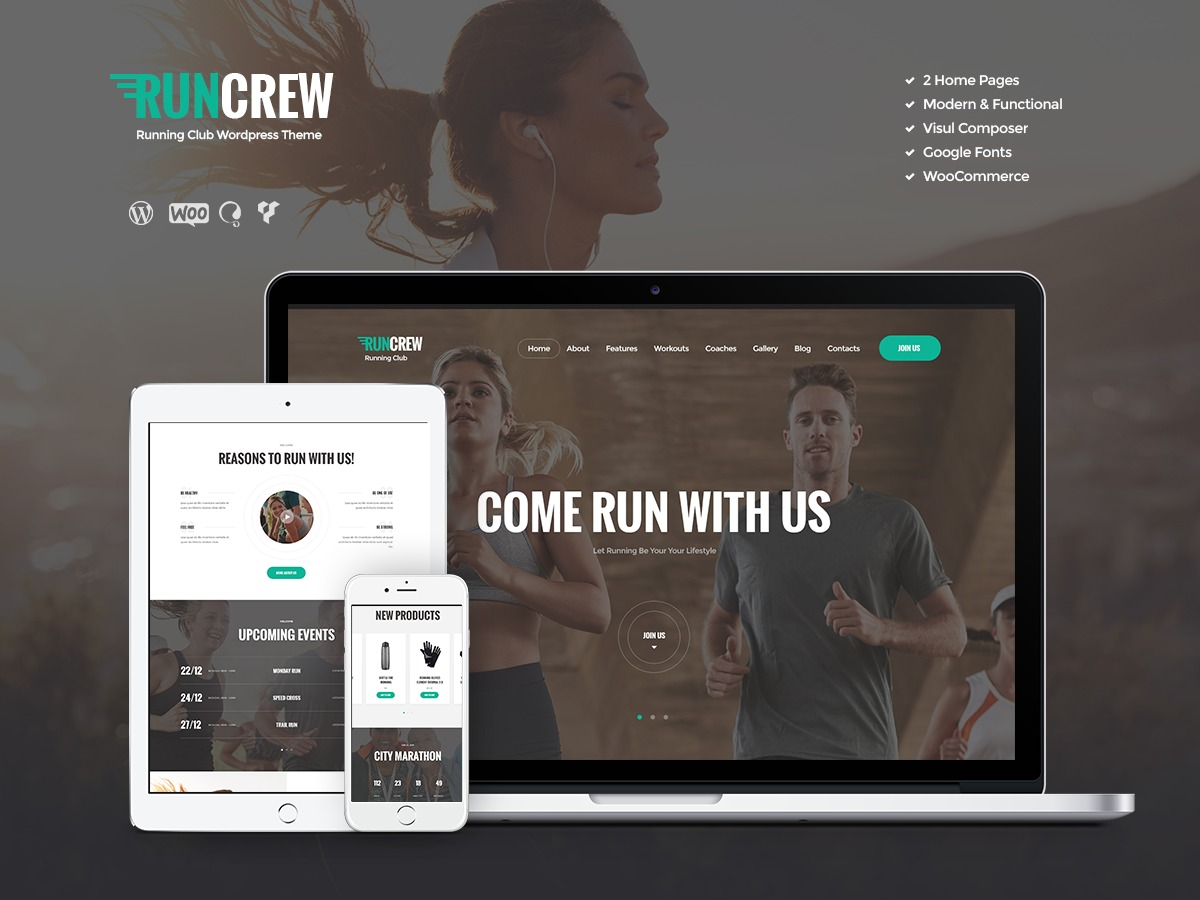 Best WordPress theme RunCrew