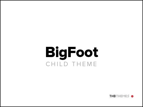 BigFoot child theme WordPress theme