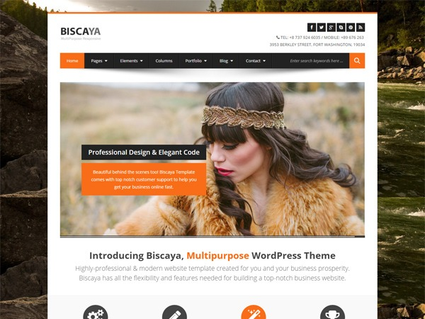 Biscaya WordPress blog template