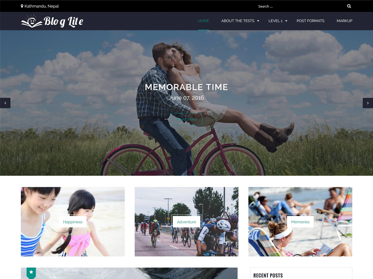 Blog Lite WordPress blog template
