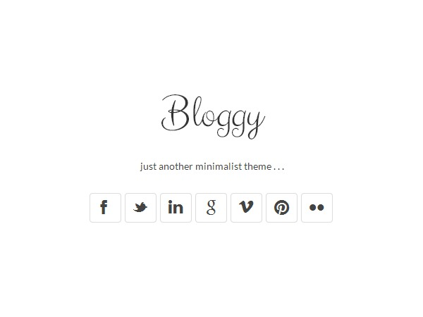Bloggy WordPress blog theme