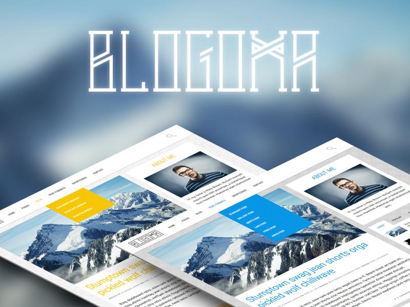 Blogoma WordPress blog theme