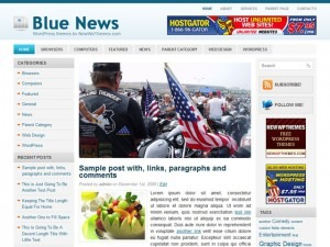 Blue News best WordPress magazine theme