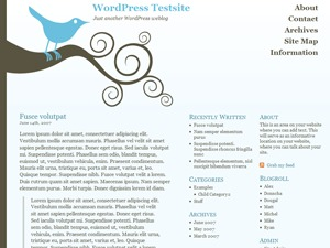 Bluebird WordPress page template