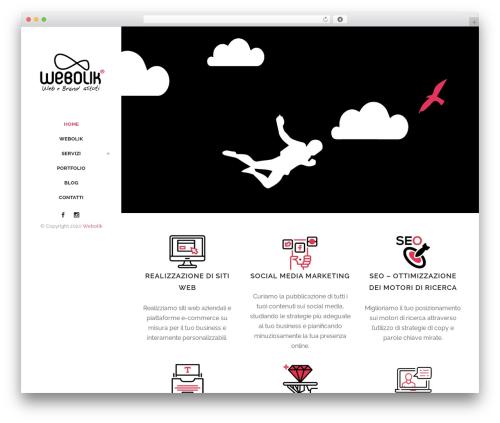 Bridge WordPress website template - webolik.it