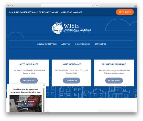 BrightFire Stellar WP theme - wiseinsuranceagency.com