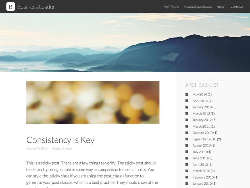 Business Leader business WordPress theme