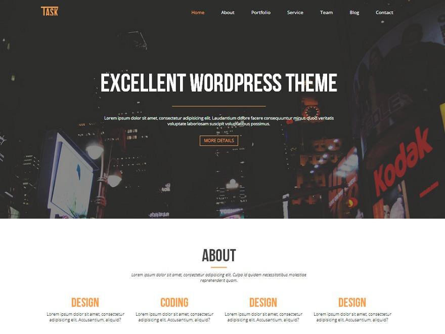 Business One WordPress video theme