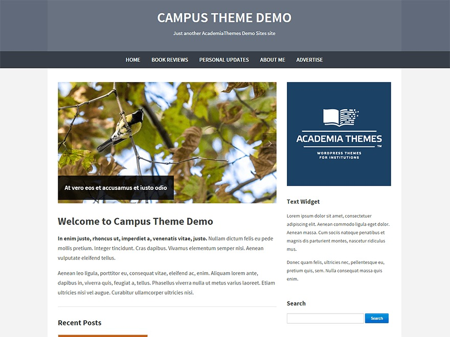 Campus WordPress theme download