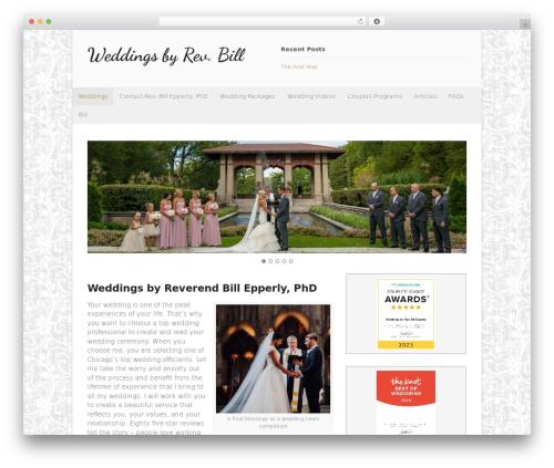Canvas WordPress page template - weddingsbyrevbill.com