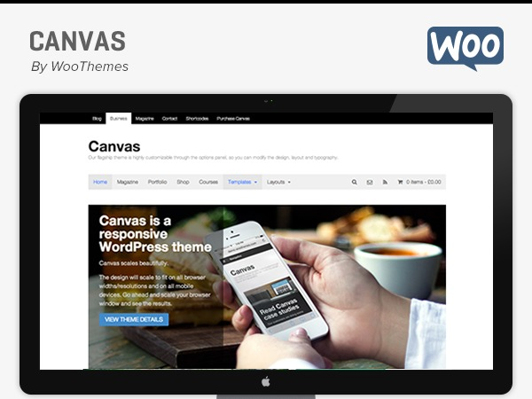 Canvas WordPress template