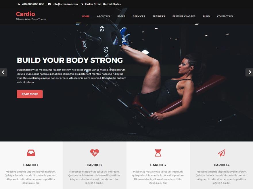 Cardio Pro WordPress blog theme