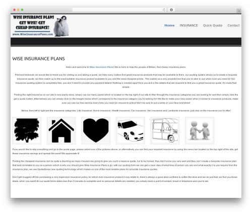 Celestial - Lite template WordPress free - wiseinsuranceplans.com