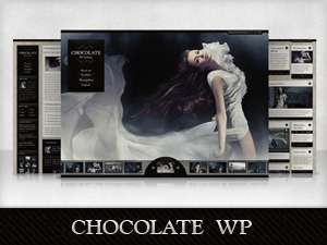 Chocolate WordPress blog template